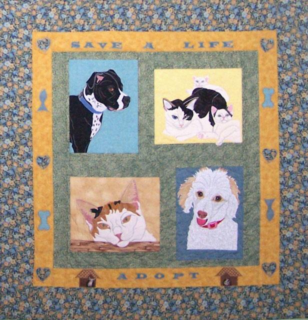 Image Queijo Gardner Animal Shelter donation quilt