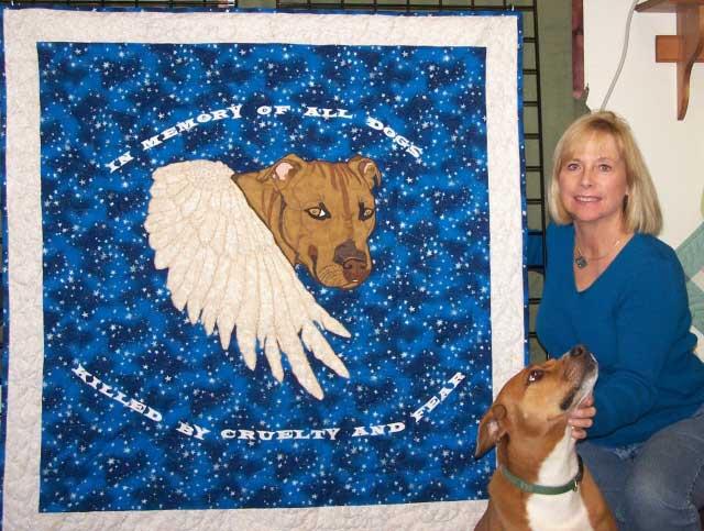 Image-Queijo Memorial Dog Quilt