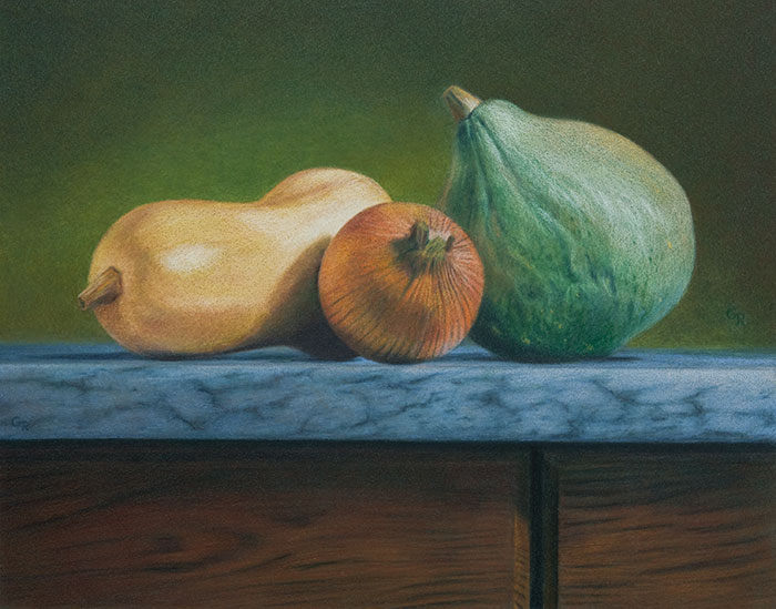 Image Ruuska Still Life with Blue Hubbard